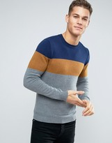 Esprit Knitted Sweater with Color Block Stripe