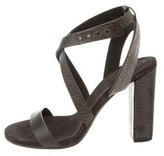 Brunello Cucinelli Monili-Accented Crossover Sandals