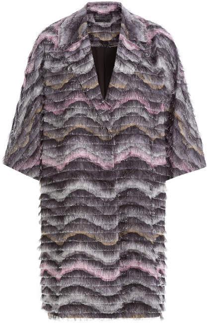 Diane von Furstenberg Woven Coat with Fringe