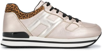 Hogan H222 metallic-sheen sneakers
