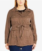 City Chic Trendy Plus Size Anorak