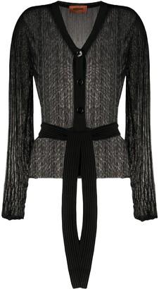 Missoni V-neck belted cardigan