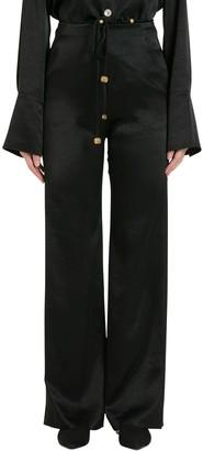 Nanushka Flax Satin Trousers