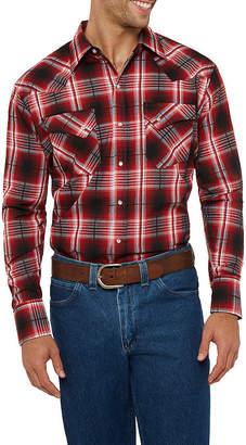 Ely Cattleman Bold Textured Plaid Western Shirt