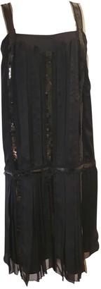 Philosophy di Alberta Ferretti Black Silk Dress for Women