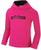 adidas Neon Pink 'Adidas' Pullover Hoodie - Toddler & Girls