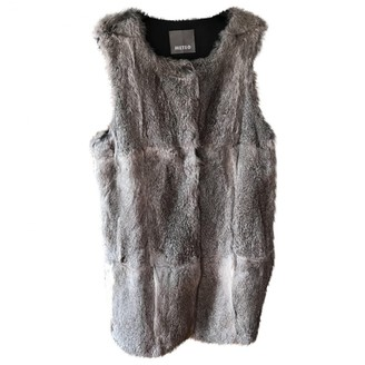 Meteo Grey Rabbit Jacket for Women