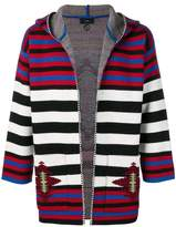 Alanui navajo stripes hooded cardigan