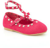 China Doll Pink Studded Joan Suede Flat
