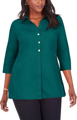 Foxcroft Pamela Non-Iron Stretch Tunic Blouse