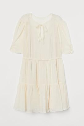 H&M Crinkled Dress - White