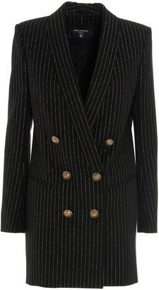 Balmain Pinstriped Blazer Dress