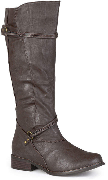 Journee Collection Harley Wide Calf Riding Boots