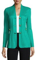 Misook Textured Gold-Button Jacket, Plus Size