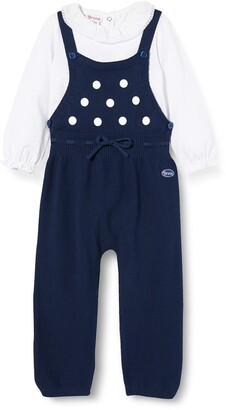 Brums Baby Girls' Compl.2 Pz.Tricot Salopette Lunga Clothing Set