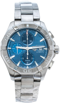 Tag Heuer Blue Stainless Steel Aquaracer CAY211B. BA0927 Men's Wristwatch 43 mm