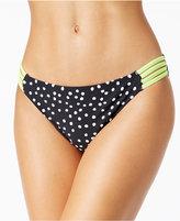 California Waves Printed Strappy Bikini Bottoms