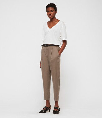 AllSaints Alva Tapered Low-Rise Pants