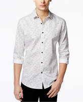 Alfani Men's Slim Craven Dash-Print Long-Sleeve Shirt, Only at Macy's