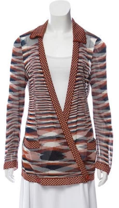 Missoni Patterned Knit Cardigan navy Patterned Knit Cardigan