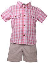 Matt's Scooter Baby Boys Newborn-24 Months Seersucker Short-Sleeve Shirt & Solid Twill Shorts Set