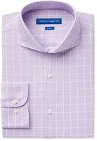 Vince Camuto Men's Slim-Fit Purple Windowpane Dress Shirt