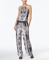 INC International Concepts Printed Wide-Leg Jumpsuit, Only at Macy's