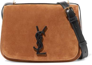 Saint Laurent Spontini Leather-trimmed Suede Shoulder Bag