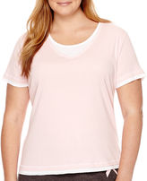 JCPenney Made For Life Short-Sleeve Layered Medallion T-Shirt - Plus