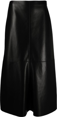 Nanushka A-Line Faux Leather Skirt