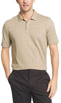 Van Heusen Short Sleeve Flex Printed Windowpane Polo Shirt