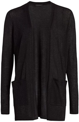 Saks Fifth Avenue COLLECTION Plaited Shine Open-Front Cardigan
