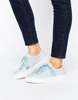 K-Swiss Premium Leather Court Classico Trainers In Blue