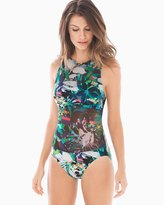 Soma Intimates Tropical Dawn High Neck One Piece Swimsuit