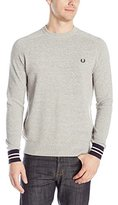 Fred Perry Men's Textured Yarn Pique Crew Neck