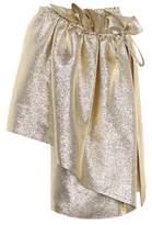 Stella McCartney Metallic wrap skirt