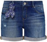 Hallhuber Denim shorts with paisley bandana