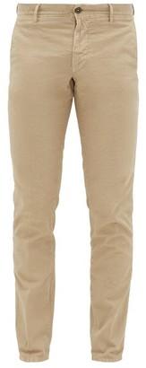 Incotex Ripstop-effect Cotton-blend Trousers - Mens - Beige