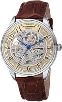 Akribos XXIV Men's Leather Watch