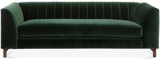 One Kings Lane Alden Sofa - Forest Green Velvet
