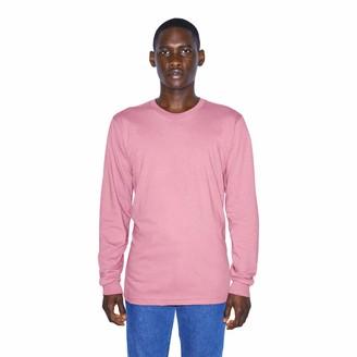 American Apparel Men's Organic Fine Jersey Crewneck Long Sleeve T-Shirt