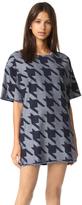 Marques Almeida Denim Frayed Edge T-Shirt Dress