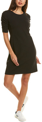Theory Cinched Sleeve T-Shirt Dress