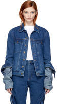 Y/Project Navy Denim Extra Long Sleeve Jacket