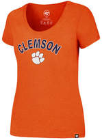 '47 Women's Clemson Tigers Logo Club Scoop T-Shirt
