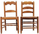 One Kings Lane Vintage Antique French Ladder Back Chairs - Blink Home Vintique - brown