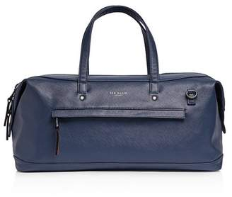 Ted Baker Patche Crossgrain Leather Holdall