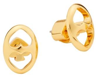 Kate Spade Goldplated Duo Heart Link Stud Earrings