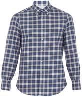 Brunello Cucinelli Checked single-cuff cotton-flannel shirt