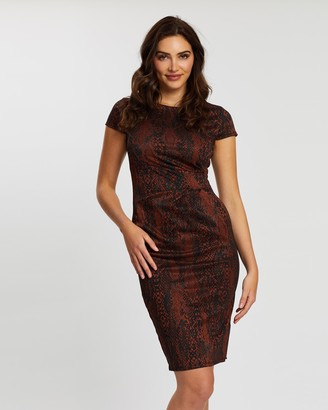 Dorothy Perkins Snake Pencil Dress